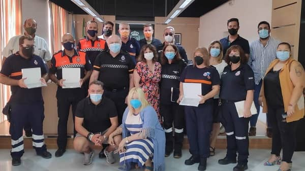 Navalmoral agradece a las agrupaciones de Protección Civil su participación en La Vuelta