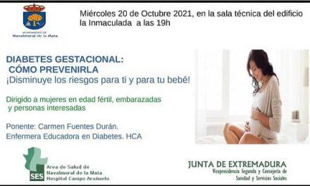 La Concejalía de Sanidad programa una charla sobre como prevenir la Diabetes Gestacional